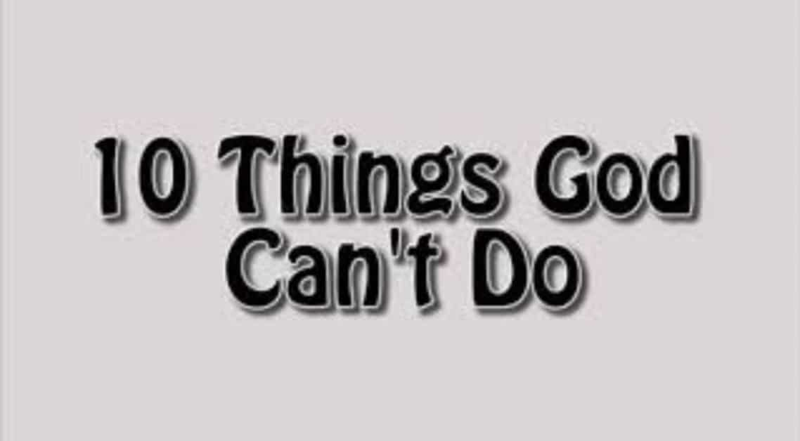 Things God Can't Do