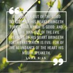 Your heart reveals itself in your speech and behavior – Luke 6:45
